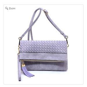Handbags - NEW Woven Bifold Crossbody Clutch
